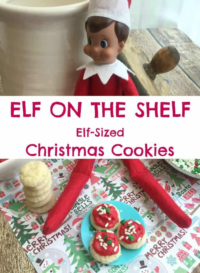 Elf on the Shelf Elf Sized Christmas Cookies from This Mama Loves