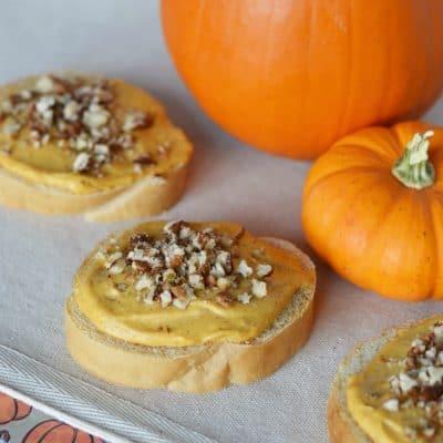 Pumpkin Cream Cheese Pecan Appetizers