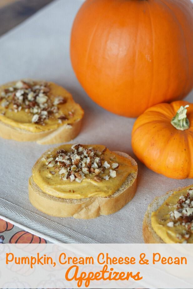 Pumpkin Cream Cheese Pecan Appetizers- This Mama Loves
