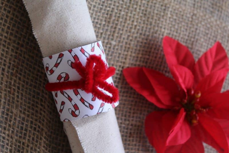 Easy DIY Holiday Napkin Rings Craft for Holiday Brunch from This Mama Loves