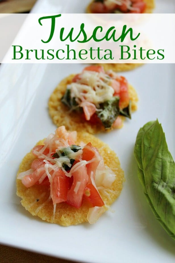 Easy New Years Appetizer Recipe Tuscan Bruschetta Bites from This Mama Loves
