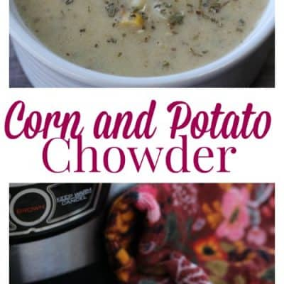 Pressure Cooker Potato & Corn Chowder