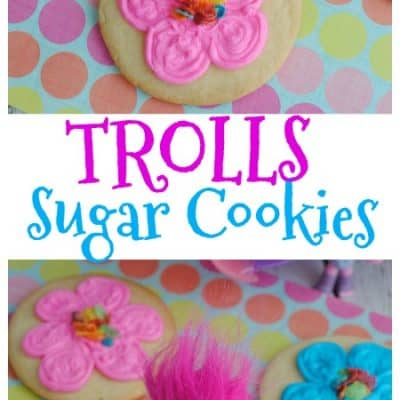 Trolls Inspired Sugar Cookies