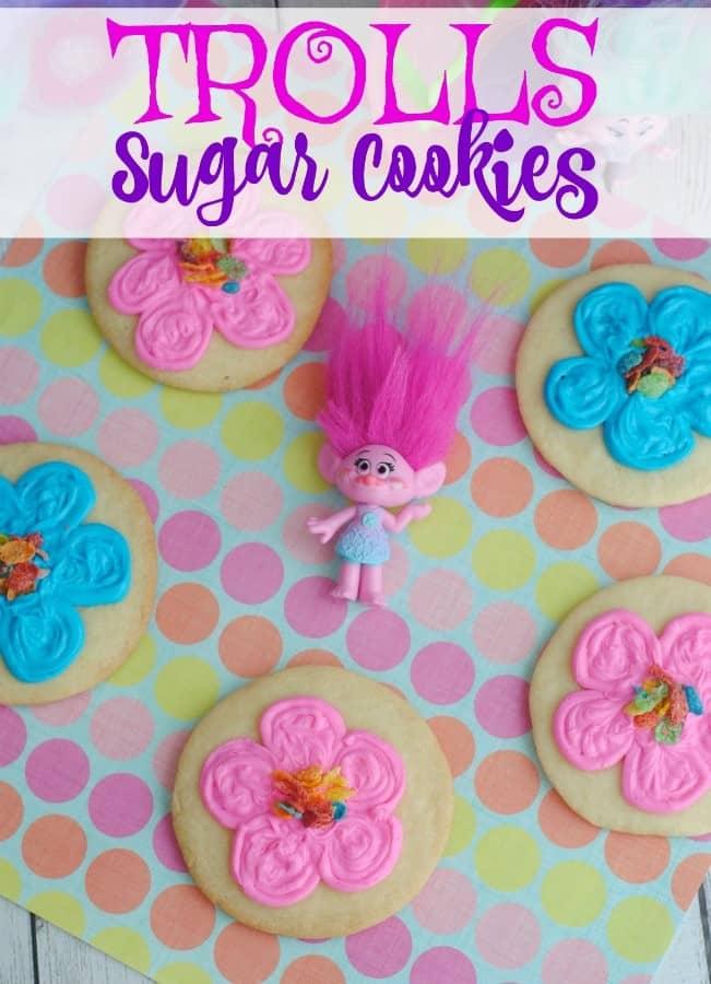 Trolls Inspired Sugar Cookies