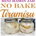 Mini Mason Jar No Bake Tiramisu Recipe from This Mama Loves