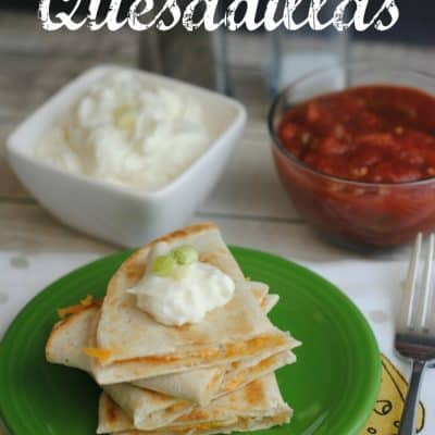 Easy Two Cheese Quesadillas