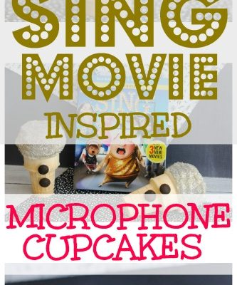 SING Movie Night & Edible SING Microphone Cupcakes