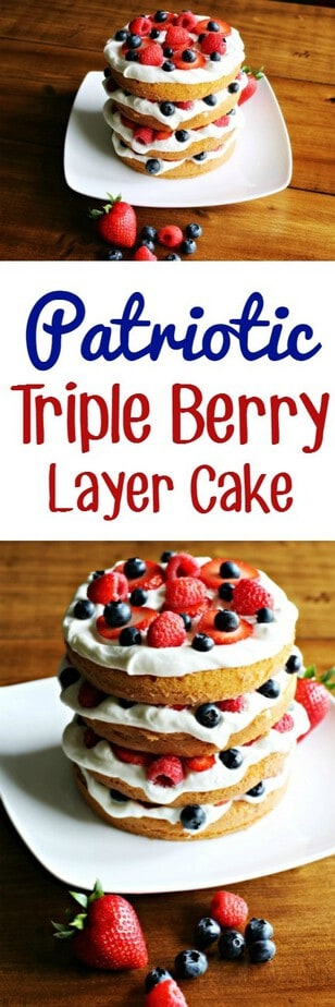 Patriotic Triple Berry Layer Cake
