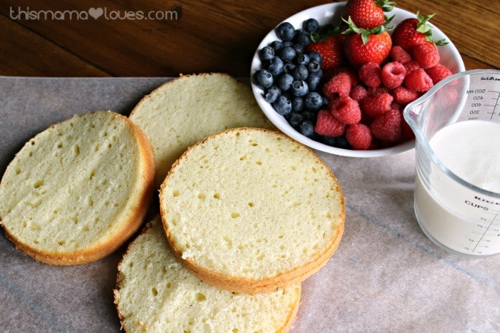 Patriotic Triple Berry Layer Cake