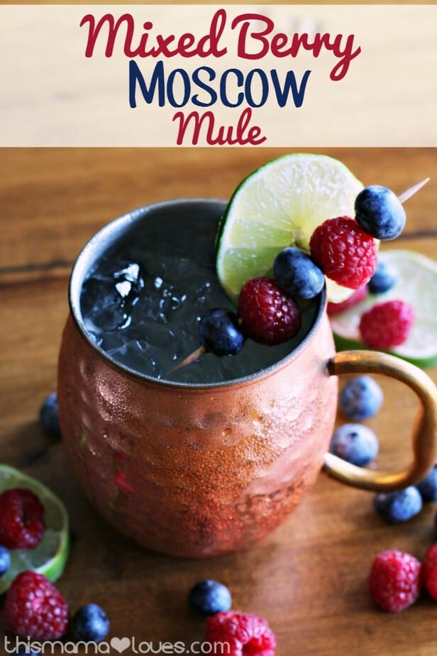 Mixed Berry Moscow Mule Cocktail Recipe This Mama Loves