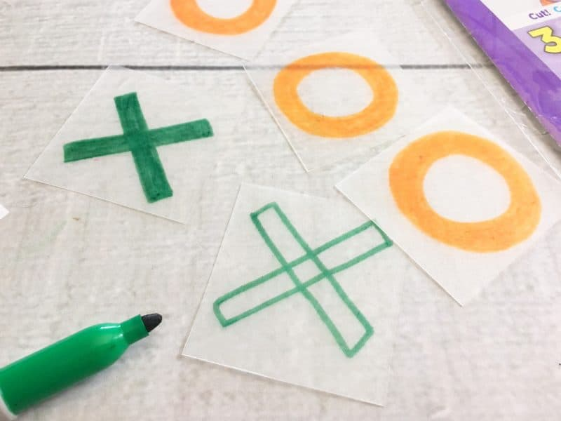 How to make a shrinky dinks game - tic tac toe
