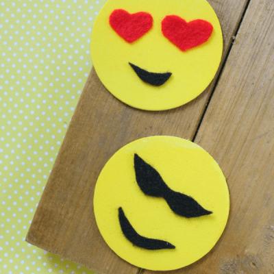 Emoji Craft Idea: DIY Emoji Magnets