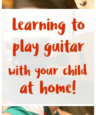 Learn guitar with your child without leaving your home!