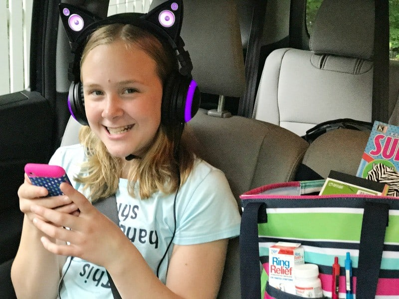 road trip tips for tweens and caution about headphone use