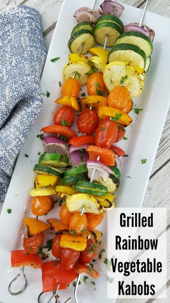 Grilled Rainbow Vegetable Kabobs from J