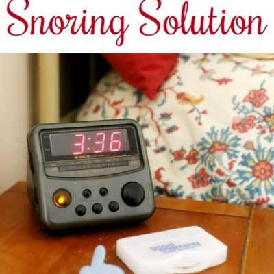 Marriage Saver? Non invasive snoring solution that works