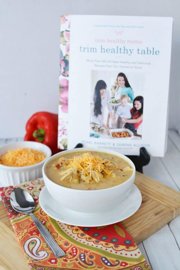 Instant Pot Creamy Verde Chicken Chili Recipe from Trim Healthy Mama #TrimHealthyTable