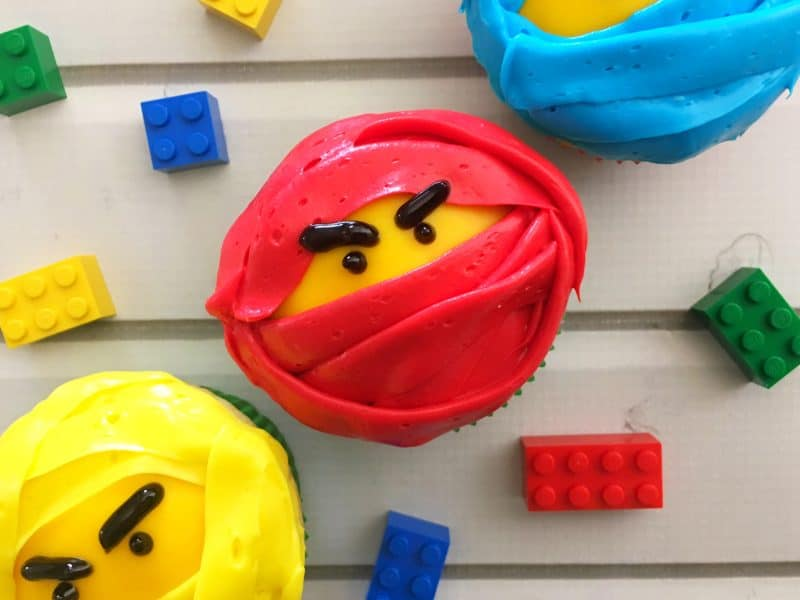 Easy Lego Ninjago Movie Cupcakes 1