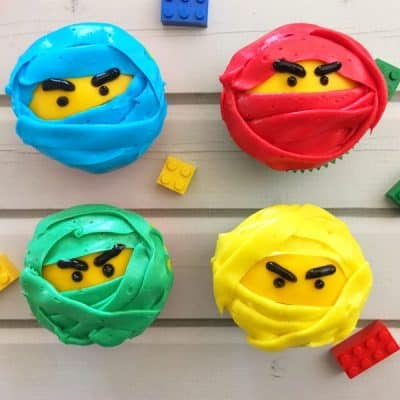 Easy LEGO NINJAGO Movie Cupcakes