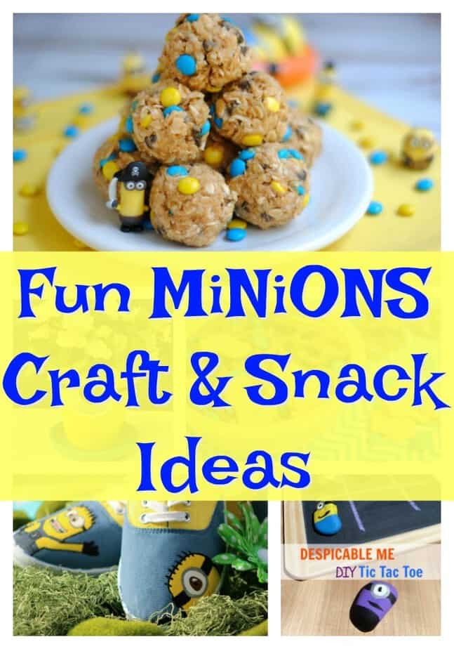 Fun Minions Craft and Snack Ideas- DIY Minions - DIY Despicable Me- DIY Agnes Costume  #DespicableMe3 #DM3Family