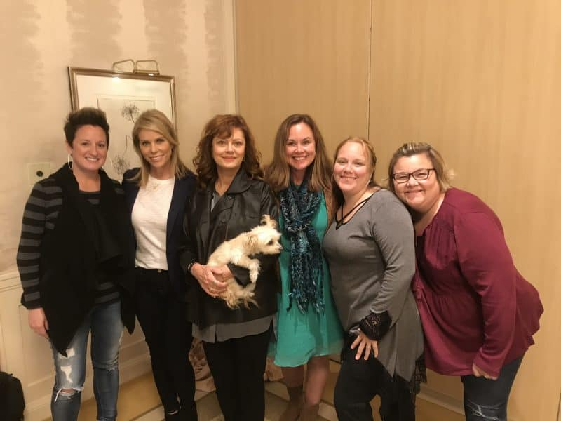 cheryl and susan with bloggers