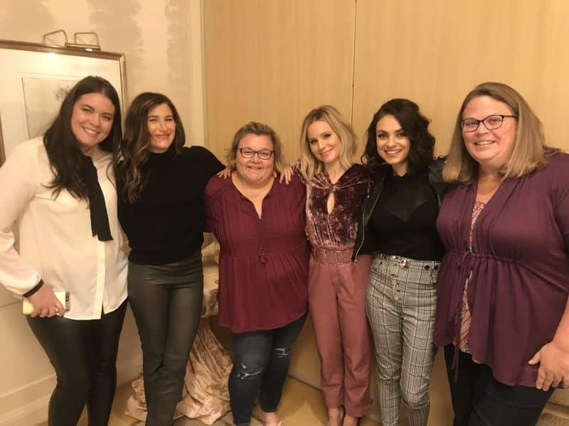 mila kristen kathryn with bloggers