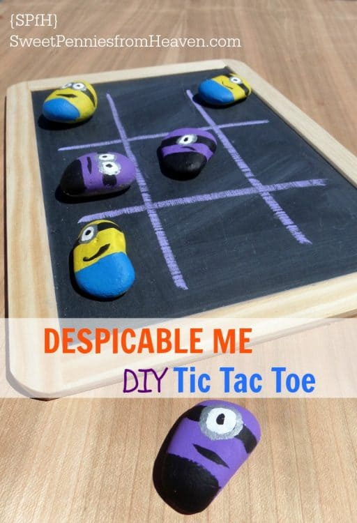 Despicable Me DIY Tic Tac Toe Game Sweet Pennies from Heaven