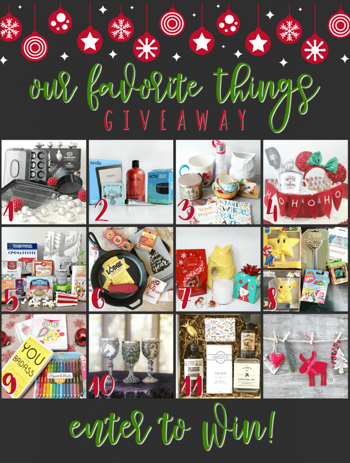 My Favorite Things Prize Pack Giveaway Blog Hop! Enter to win several bloggers' fave things in various $50+ value prize packs.