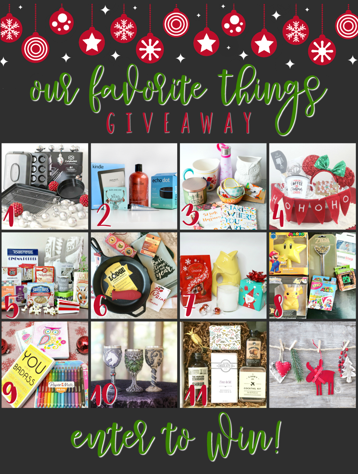 Last year I came across the most wonderful Favorite Things giveaway hop. Since then I've been wanting to share some of my own favorite things with you, so I figured the holidays would be the perfect time to join forces with some of my favorite blogging friends for a My Favorite Things Holiday Giveaway Hop. You're going to love the very personalized prize packages that have been put together just for you! Are you ready for this?!?!