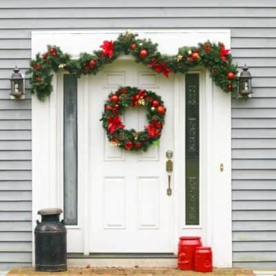 Easy Holiday Front Door Look plus Holiday Products available at BJ's