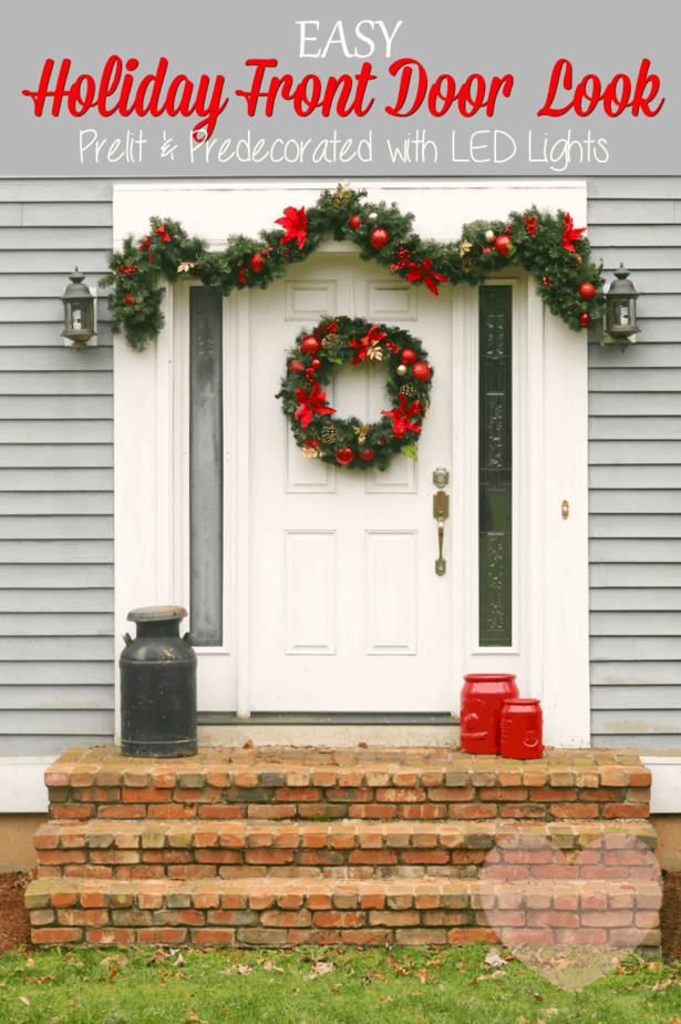 Easy Holiday Front Door Look from This Mama Loves