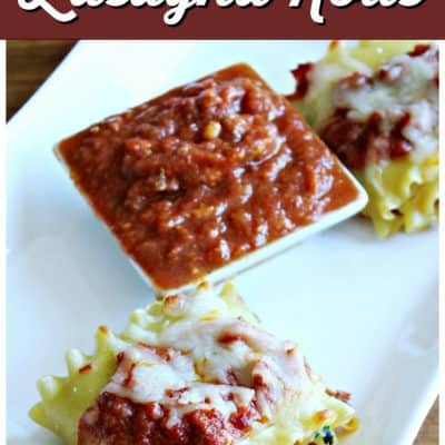 Easy Lasagna Rolls with Spinach