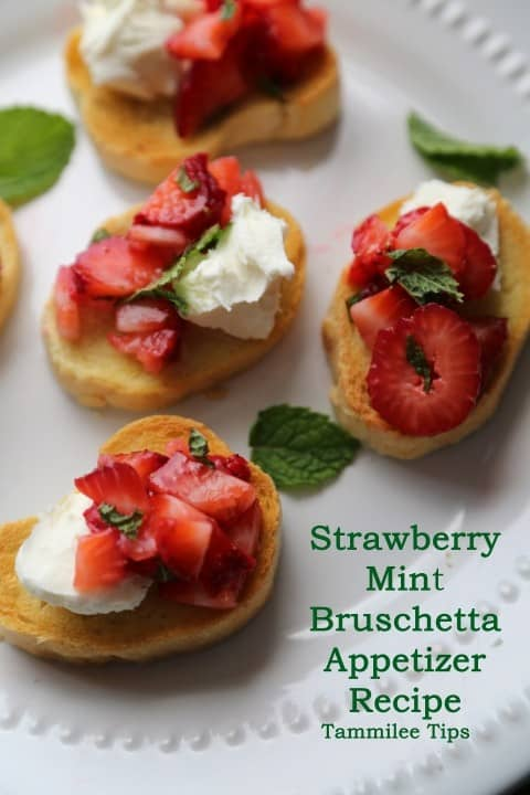 Strawberry Mint Bruschetta Appetizer from Tammilee Tips