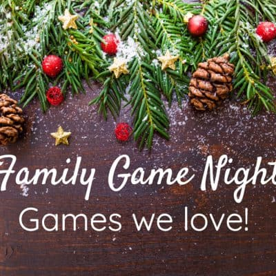 Games our Family loves to play on Family Game Night!