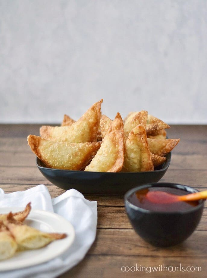 Crispy Pork Wontons from Cooking with Curls