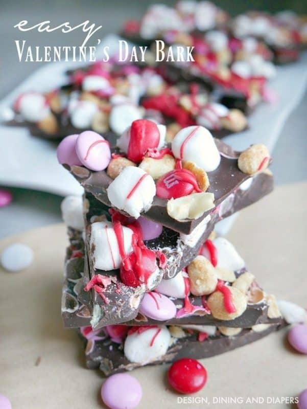 Easy Valentine's Day Bark from Taryn Whiteaker