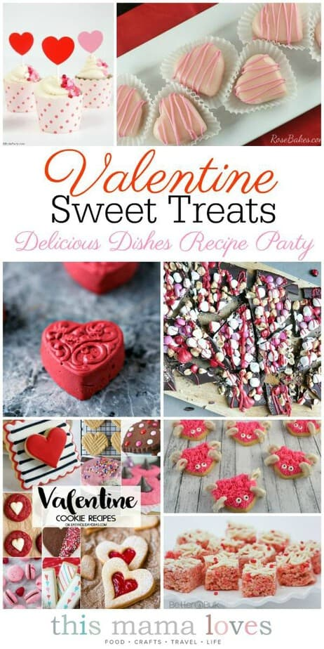 Homemade Valentine Treats from This Mama Loves- Sweet Valentine Recipes- Valentines Day Treat Recipes