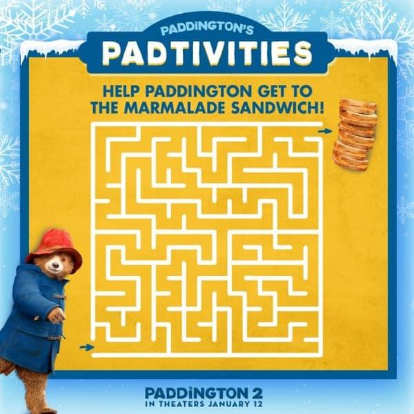 Paddington Maze Printable Paddington2