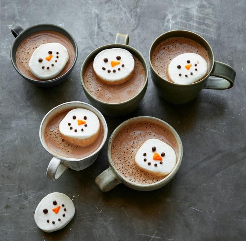 Snowman marshmallow decorating activity #savorysnowday