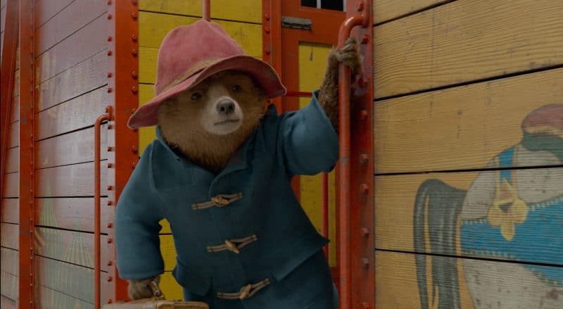 Paddington on Train Paddington 2 movie