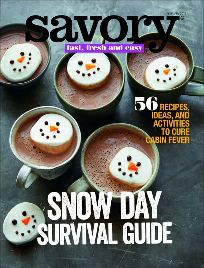 savory snow day cover issue image