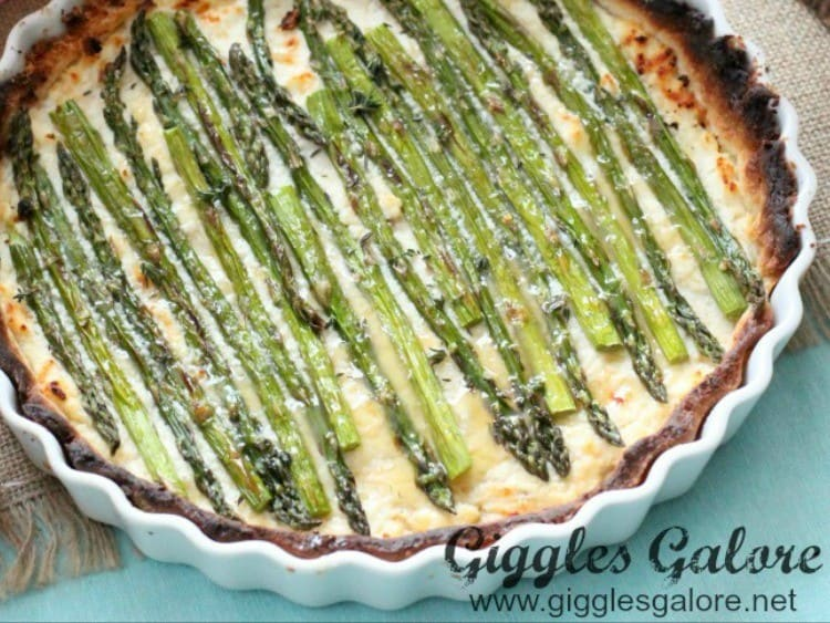 Asparagus Tart from Giggles Galore