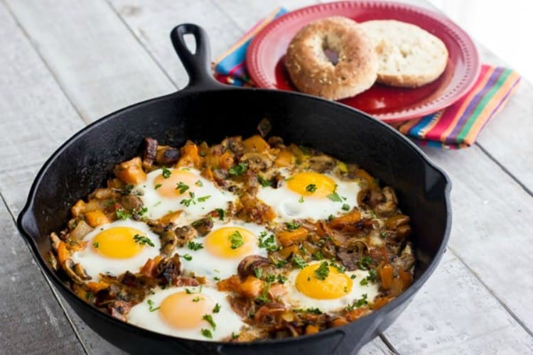 Baked Eggs in a Cast Iron Skillet from the Black Peppercorn