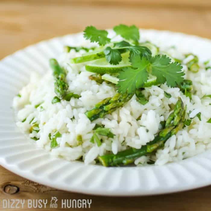 Cilantro-Lime-Asparagus-and-Rice-from-Dizzy-Busy-and-Hungry