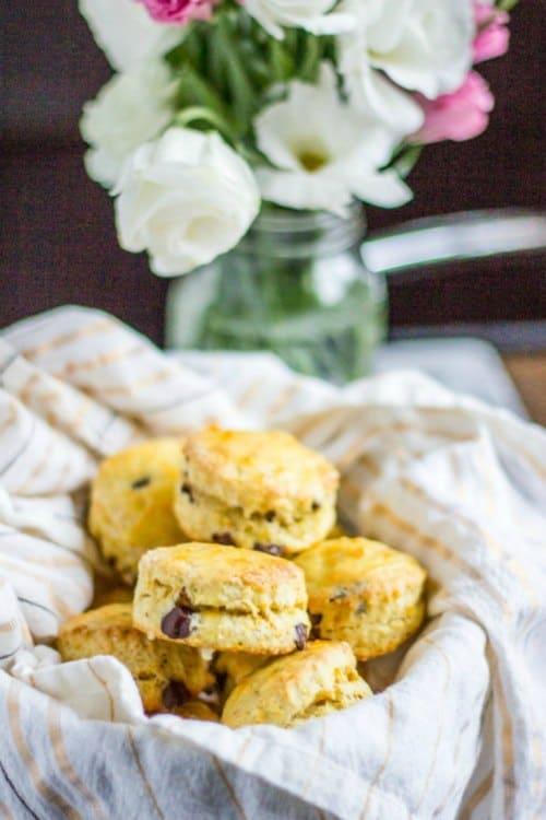 dark chocolate orange scones from the kittchen