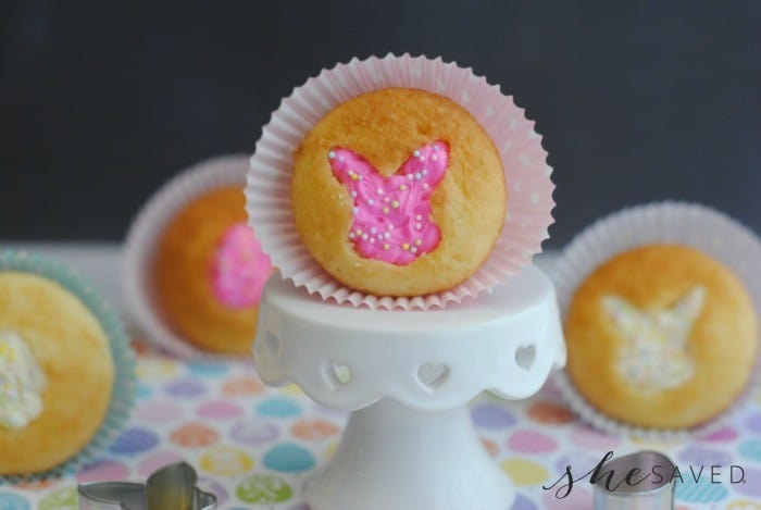 Easter Bunny Cupcakes from She Saved (1)
