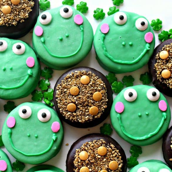 chocolate covered leprechaun cookies