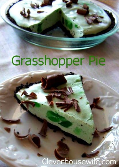 Grasshopper Pie from Clever Housewife