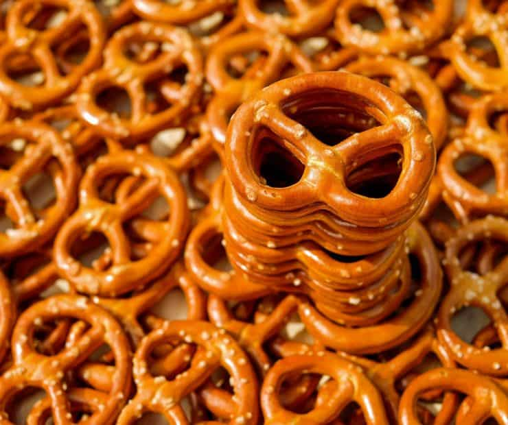 pretzels stacked
