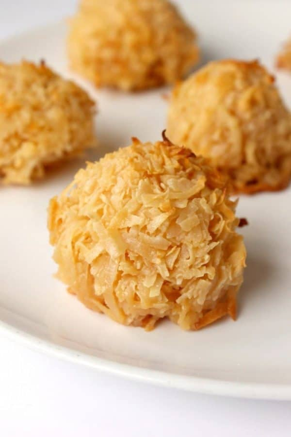 3 Ingredient Toasted Coconut Cookies from Simple Sweet Recipes